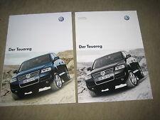 VW Touareg prospectus brochure de 11/2002 + données techniques