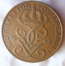 1926 SWEDEN 5 ORE - Excellent Vintage Coin - FREE SHIP - Sweden Bin #2