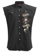 Spiral Direct UNSPOKEN SLEEVELESS WORKER/Shirt/Skull/Wings/Biker/M-L-XL-XXL-4XL