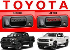 Gloss Red TOYOTA Vinyl Decal Letters For Tacoma/Tundra Tailgate Handle New USA