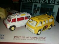 Vintage TOOTSIETOY 1975 EMERGENCY RESCUE VAN Ambulance 1297 USA Buzy Bee Bus l 2
