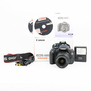 Canon EOS 600D 18MP DSLR Camera + Canon 18-55mm IS II Lens - 3,439 Shots - EXC