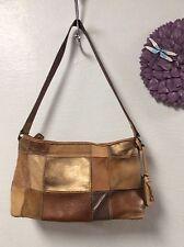 Fossil ladies leather handbag brown satchel hobo shoulder bag ZB8075 H37