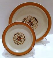 Stoneware Dinner Plate, Salad Plate, Hand Decorated Japanese Dinnerware, Plates