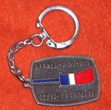 Porte-clé FRANCE-PINCEAUX TRICOLORE 02260 La CAPELLE St LUC Patrons des peintres