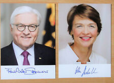 Autogrammkarte / Bundespräsident: Herr F.W. Steinmeier & Frau E. Büdenbender..