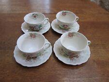 4 Royal Doulton Tea Cups &  Saucers Malvern Pattern