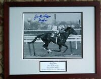 Ruffian signed photograph jacinto Vasquez autograph  Prof. frame