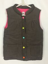 Carters Girls Size 6 Puffer Vest Multi Color Snaps Pockets Sleeveless Jacket