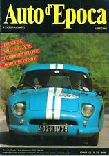 Auto d'Epoca n.7/8 del 1990 : Delage D8, Cabriolet Peugeot, Abarth 750, ....