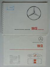 Prospekt Mercedes 190 SL, 11.1959, 30 Seiten + Datenblatt, ringgebunden