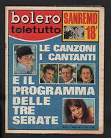 Bolero 1084 Tognazzi Vianello Sanremo Antoine Sharif Villaggio Ferro Skofic Mina