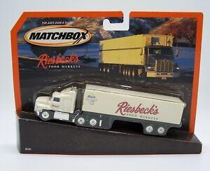 """MATCHBOX"" CONVOY **RIESBECK'S FOOD MARKETS** FORD AEROMAX MINT ON CARD"