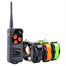3- Dog  Remote Training Shock Collar No Bark Trainer Waterproof  Rechargeable