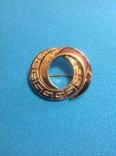 Gold GIVENCHY Interlocking Circle Brooch Pin - RARE!!