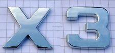 X3 Chrome caractères Chrome Emblème Logo chromlogo 3d autocollant adhésif plaque pour BMW nouveau