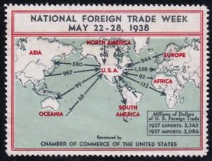 US STAMP  1938 NATIONAL FOREIGN TRADE WEEK STAMPS MNH/NG