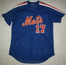 New York Mets #17 Blue Spring Training Majestic Jersey Men M Hernandez Vintage