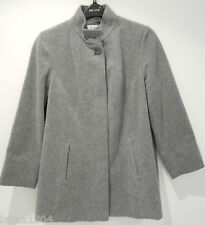 M&S Wool Blend With Cashmere Grey Winter Smart MidLength Over Coat (NEW) Size 18