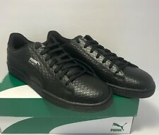 Puma Mens Size 11 Basket Classic B&W Black Casual Walking Athletic Shoes New