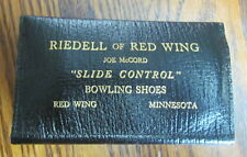 Vintage Riedell Red Wing bowling shoe salesman sample kit for soles