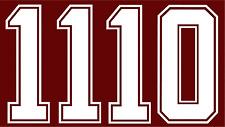 numero 10 o11 roma anni 80 in plastichina nuovo x maglia roma patrick