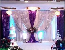 20x10FT Pleated Wedding Backdrop Curtain Background Decor Sparkly Sequin Swag 07