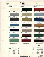 1972 CADILLAC CALAIS DE VILLE FLEETWOOD ELDORADO 72 PAINT CHIPS DITZLER 3 21PC