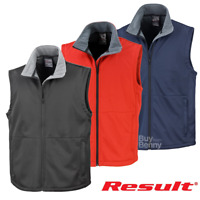 RESULT SOFTSHELL BODYWARMER ACTIVE OUTDOOR WORKWEAR FLEECE GILET UNISEX S-3XL