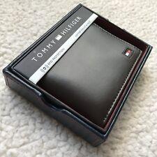 Tommy Hilfiger Men's Brown Genuine Leather Rfid Blocking Passcase Bifold Wallet