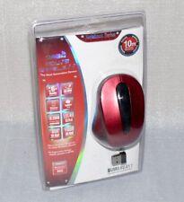 2,4Ghz Schnurlose PC Funk Maus Maus Schnurlos Notebook Lapop 10m Dk.Rot Schwarz