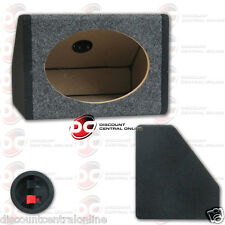 "CAR 6""x9"" ANGLED SPEAKER BOX ENCLOSURE CARPET TEXTURE & TERMINAL CUPS (ONE ONLY)"