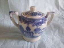 Blue Willow Sugar Bowl from Child's Tea Set