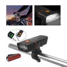 PREMIUM FULLY RECHARGEABLE BICYCLE SUPER BRIGHT BIKE LIGHTS SET LIGHT WATERPROOF