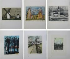 BUFFET Bernard : Set of 6 LITHOGRAPHS - Landscapes - 1967 #MOURLOT