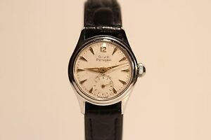 "VINTAGE RARE SUB SECOND ALL STAINLESS STEEL LADIES SWISS WATCH""GIRARD PERREGAUX"""