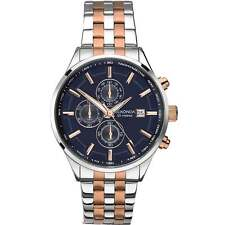 SEKONDA MEN'S VELOCITY CHRONOGRAPH WATCH - NEW IN BOX Rose Gold/Silver,  Blue