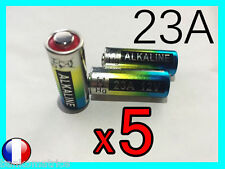 5 PILES BATTERIE 12V ALCALINE 23A A23 23AE Longue Durée MN21 A23S CN23A BATTERY