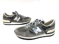 Vintage Mens Size 11.5 New Balance Tennis Shoes Grey White Vibram Boston USA