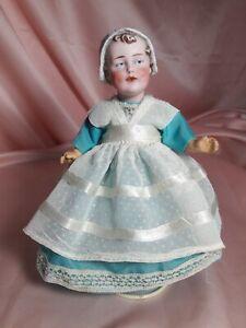 "Rare & Unique Molded-on Bonnet Gebruder Heubach # 7959 Antique Doll 8"" Adorable!"