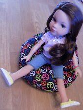 Peace Symbol Print Bean Bag Chair Fits Such As Ag Wellie Wishers Dolls & H4H