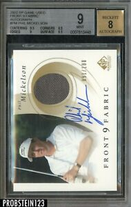 2002 SP Game Used Front 9 Fabric Phil Mickelson Patch /100 BGS 9 w/ 8 AUTO