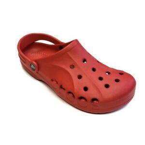 CROCS Baya Lightweight Slip On Clogs Shoes Pepper Red Mens Size 11