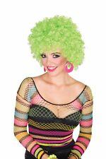 GLITTER AFRO Halloween Disco costume wig - Hot Green