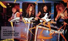 Megadeth 1987 So What Original Promo Poster