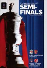 * 2013 WOMENS FA CUP SEMI-FINAL - LIVERPOOL v ARSENAL & BRISTOL v LINCOLN *