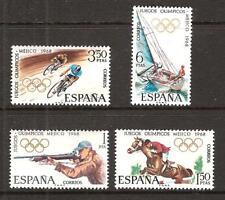 SPAIN # 1543-6 MNH SUMMER OLYMPICS MEXICO 1968