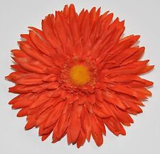 "5.5"" Bright Orange Spider Gerbera Daisy Fabric Artificial Silk Flower Hair Clip"