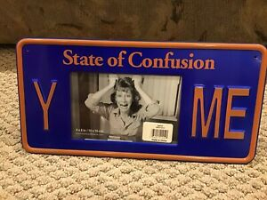 """License Plate - Photo Frame - """"State Of Confusion"""" - """"Y— Me"""""""