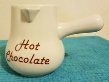 Glazed Ceramic Hot Chocolate Pitcher in excellent condition
